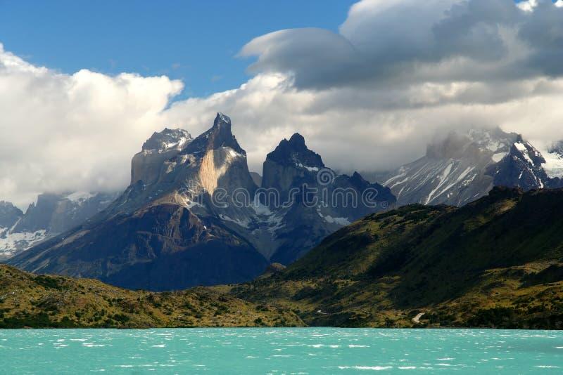 Cuernos Del Paine stock foto's