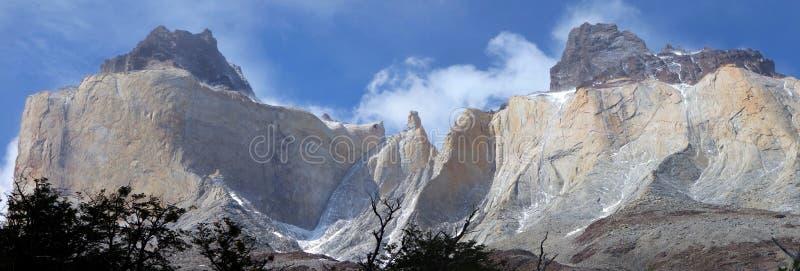 Cuernos del Paine stock afbeelding