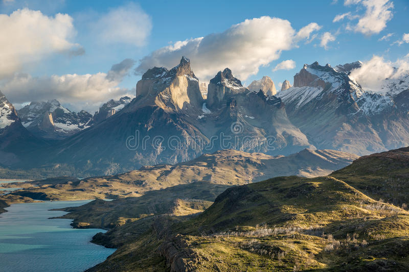 Cuernos Del Paine patagonia chile imagem de stock royalty free