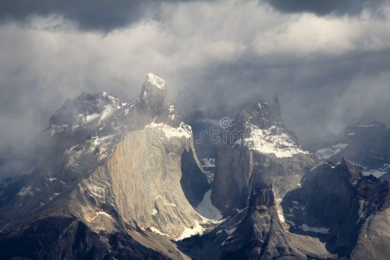 Cuernos Paine grand, Torres Del Paine National Park, Patagonia, Chili images libres de droits