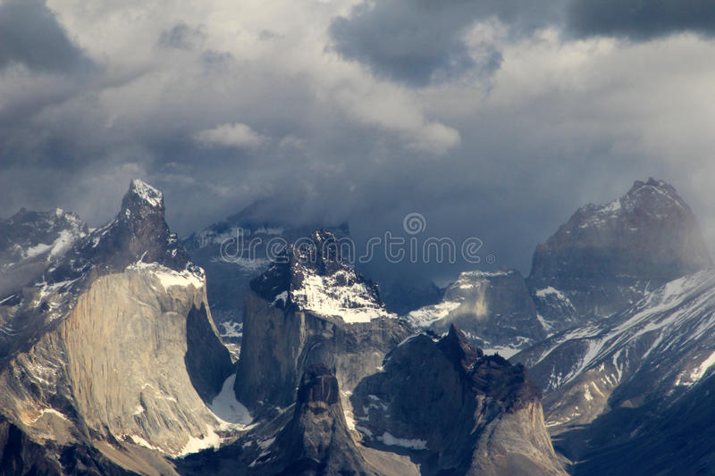 Cuernos Paine Grande, Torres Del Paine National Park, Patagonia, Chile stock image