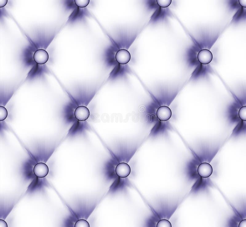 Cuero abotonado lujo de la luz del fiolet. EPS 8 ilustración del vector