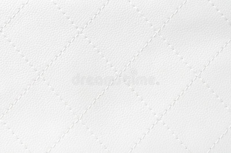 Cuero acolchado blanco foto de archivo