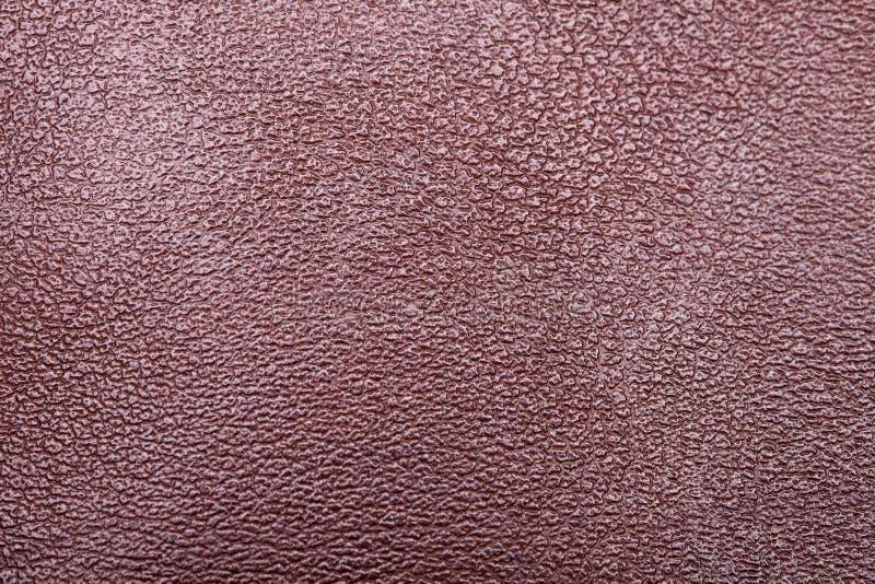 Cuero auténtico de Brown macros imagenes de archivo