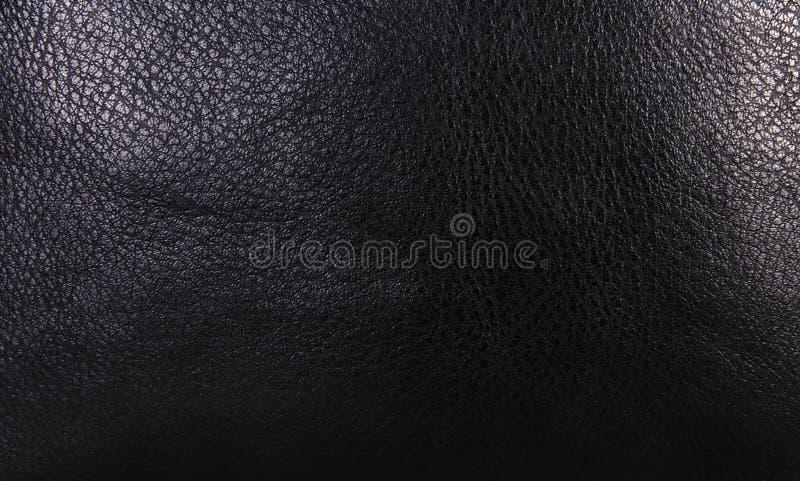 Cuero de grano negro Textura o fondo fotografía de archivo libre de regalías