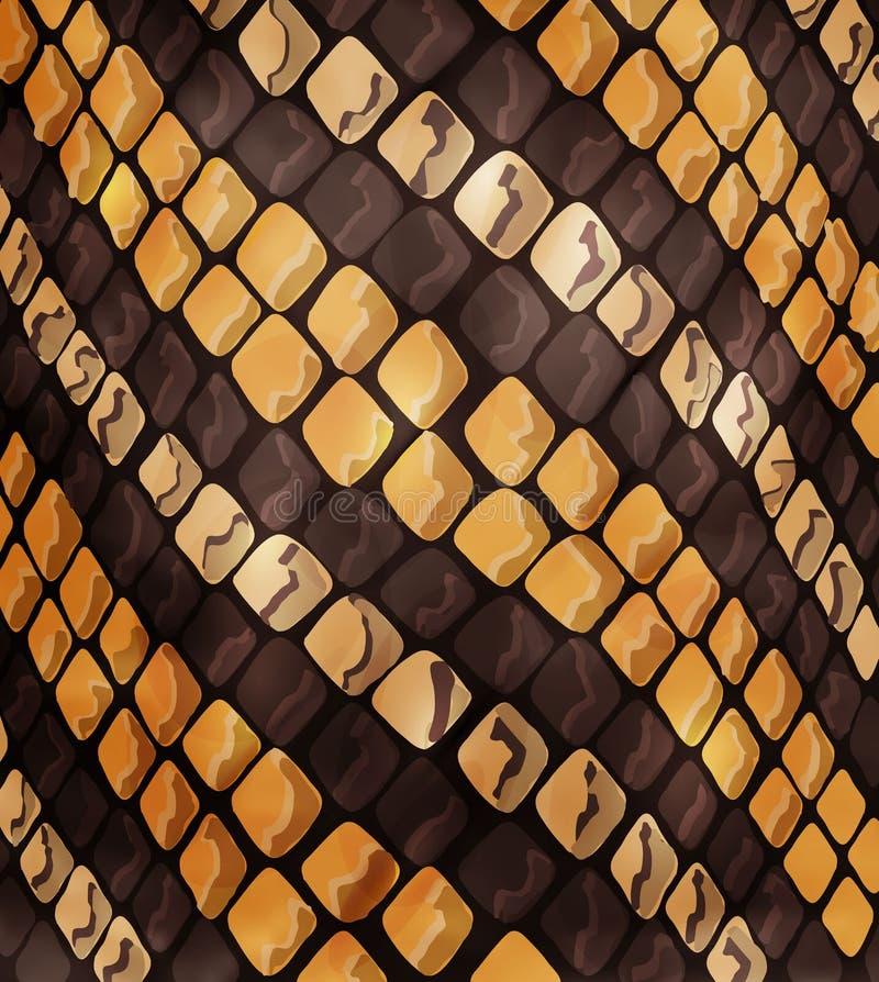 Cuero de la textura del modelo del reptil o de la serpiente, impresión de moda Moda y fondo elegante Gráficos de vector ilustración del vector