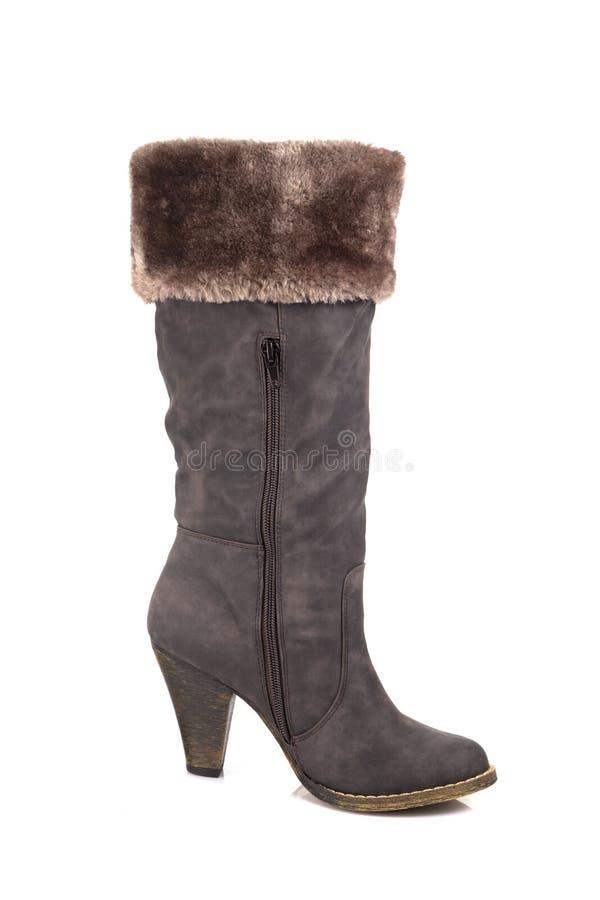 Cuero de zapatos marrón femenino fotos de archivo libres de regalías