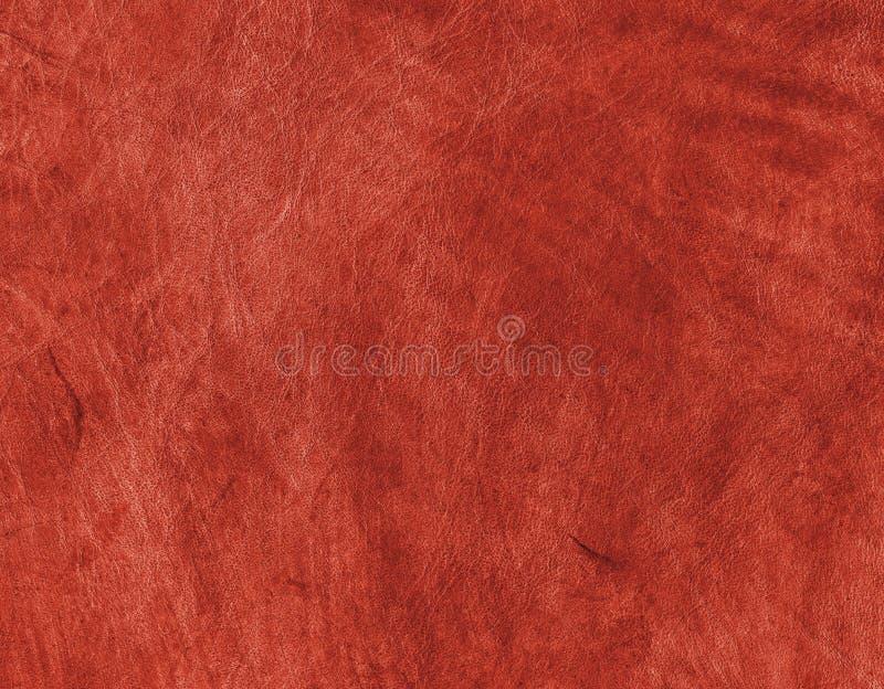Cuero genuino rojo fotografía de archivo