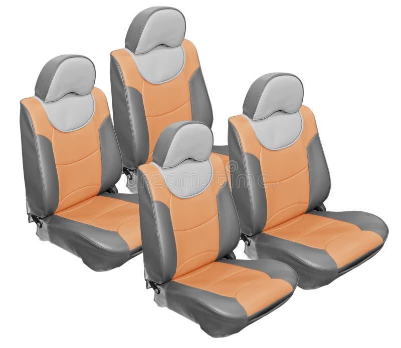 Cuero gris de los asientos de coche stock de ilustración