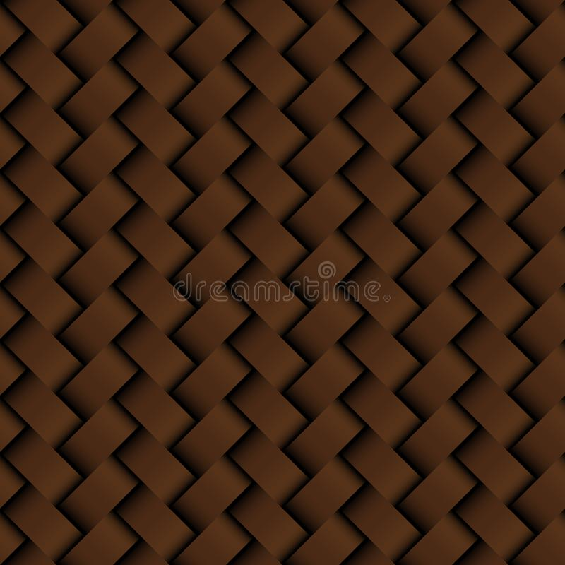 Cuero marrón de la textura que teje el modelo inconsútil libre illustration