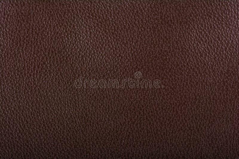 Cuero marrón oscuro imagen de archivo libre de regalías