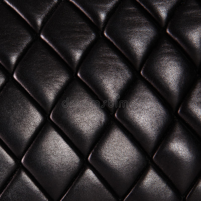 Cuero natural acolchado negro fotos de archivo libres de regalías