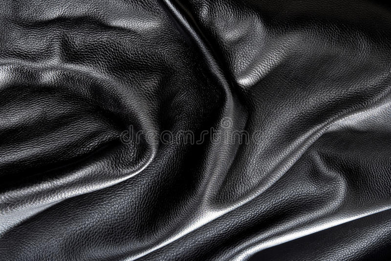 Cuero negro fotos de archivo