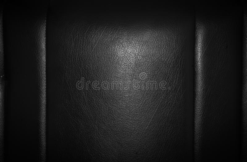 Cuero negro para la textura imagenes de archivo