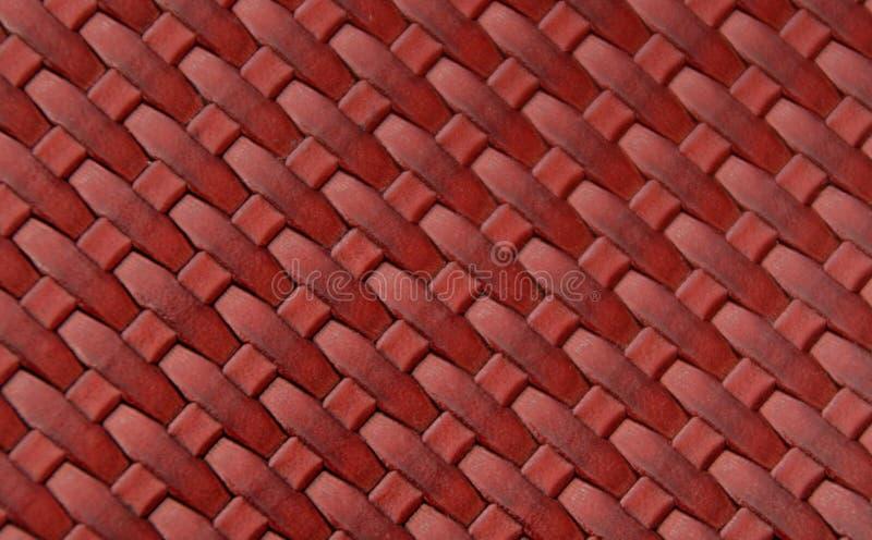 Cuero rojo imagen de archivo libre de regalías
