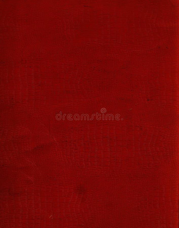 Cuero rojo del cocodrilo del Faux imagen de archivo