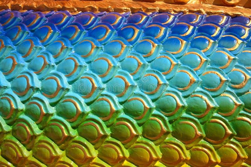 Cuerpo de la piel colorida del dragón fotografía de archivo libre de regalías