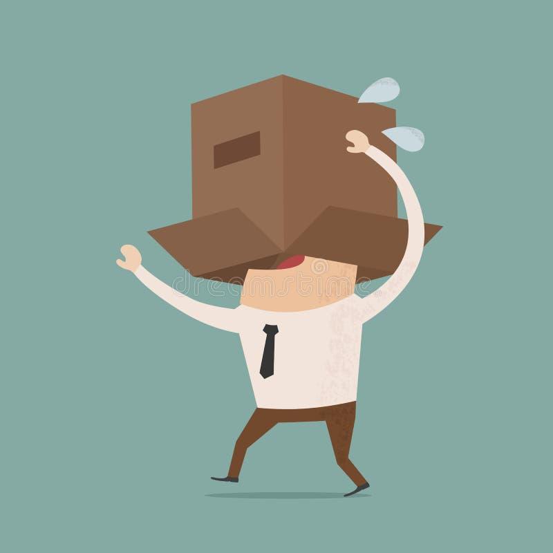Cuerpo del negocio con la caja ilustración del vector