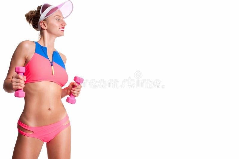 Cuerpo femenino delgado y deportivo, concepto de la dieta imagen de archivo libre de regalías