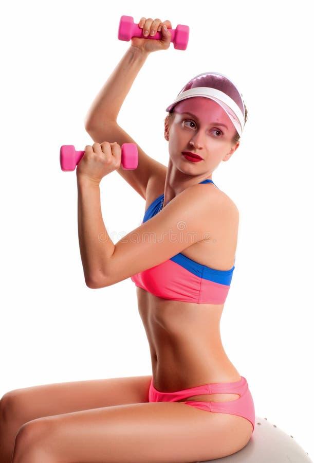 Cuerpo femenino delgado y deportivo, concepto de la dieta fotografía de archivo libre de regalías