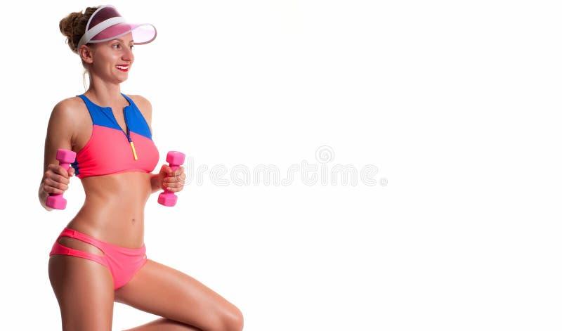 Cuerpo femenino delgado y deportivo, concepto de la dieta foto de archivo libre de regalías