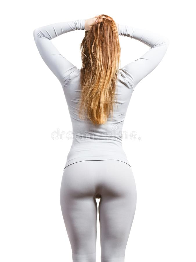 Cuerpo Femenino Que Lleva La Ropa Interior Thermoactive Foto de ...