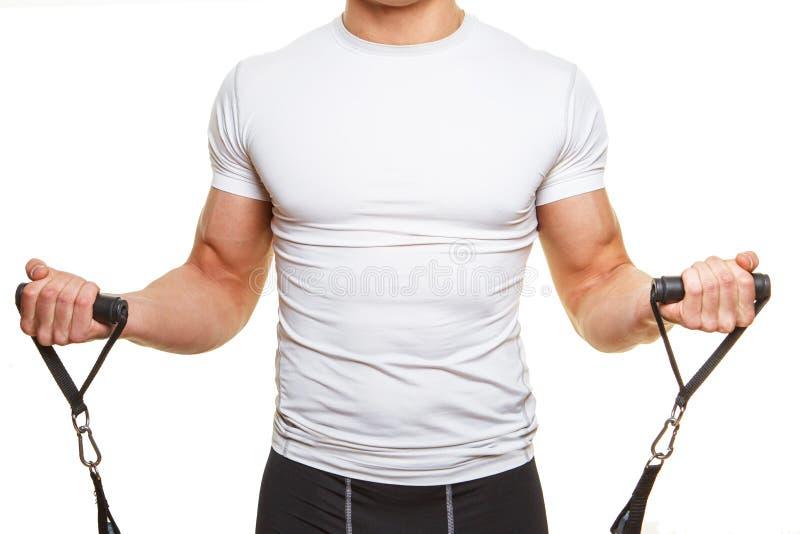Cuerpo masculino en la camisa blanca foto de archivo libre de regalías