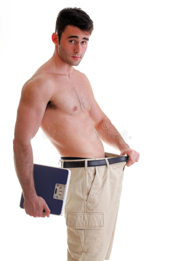 Cuerpo masculino muscular de la escala aislado en blanco imagen de archivo libre de regalías