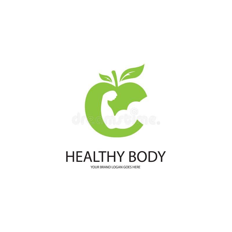 Cuerpo sano stock de ilustración