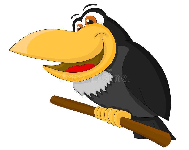Cuervo lindo de la historieta stock de ilustración