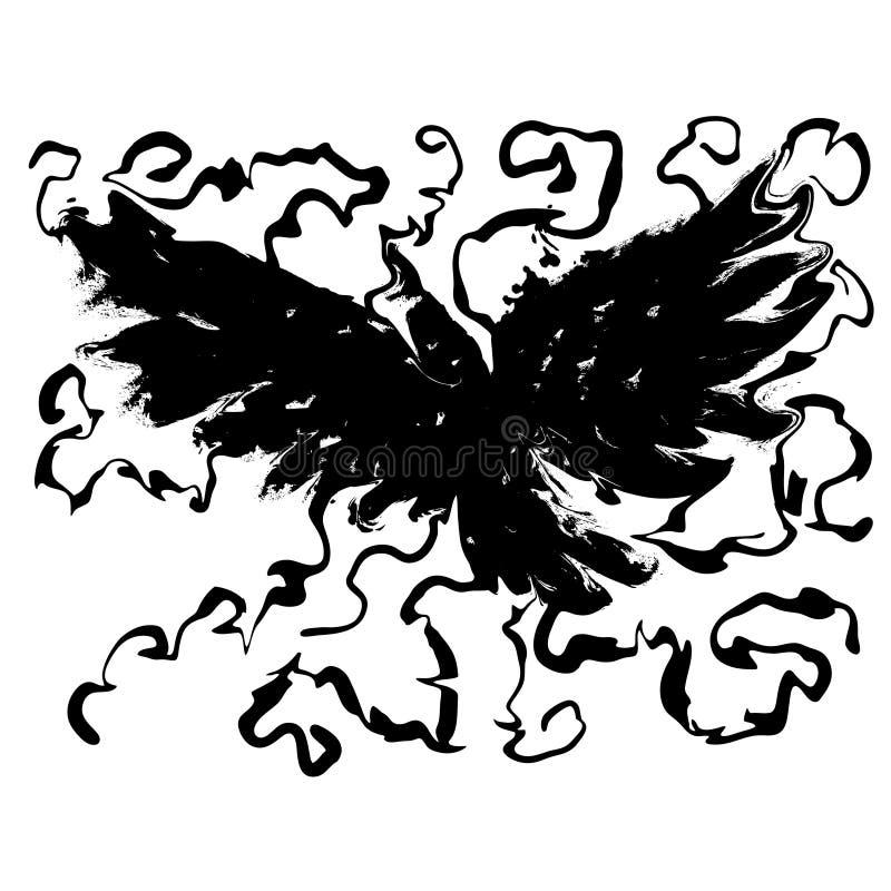 Cuervo místico stock de ilustración