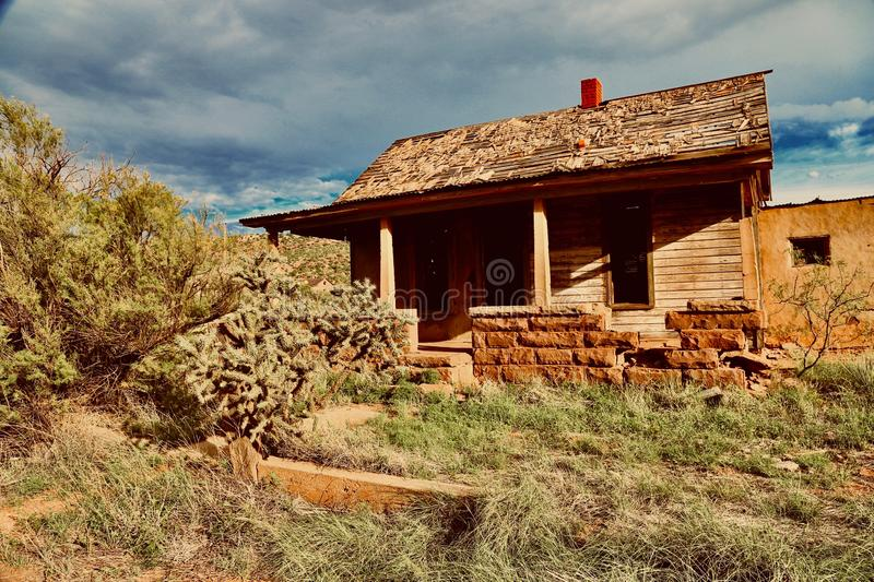Cuervo NM,House in Ghost Town stock photos