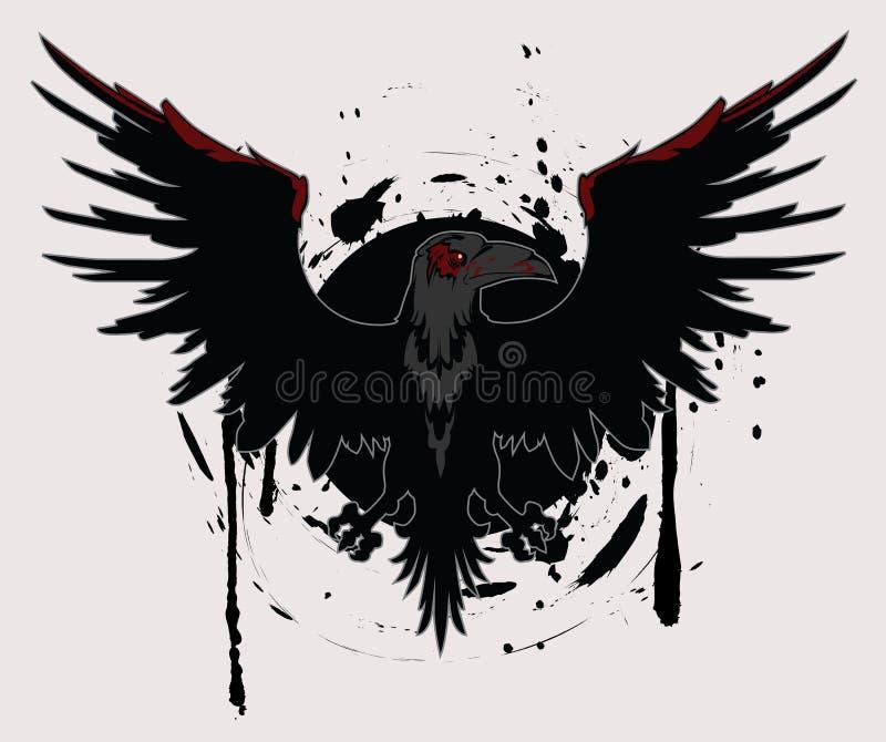 Cuervo oscuro ilustración del vector