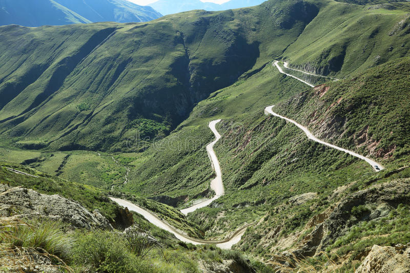Cuesta del Obispo, Salta, Argentina. Bishop slope (Cuesta del Obispo) in famous route 40, salta Argentina stock image