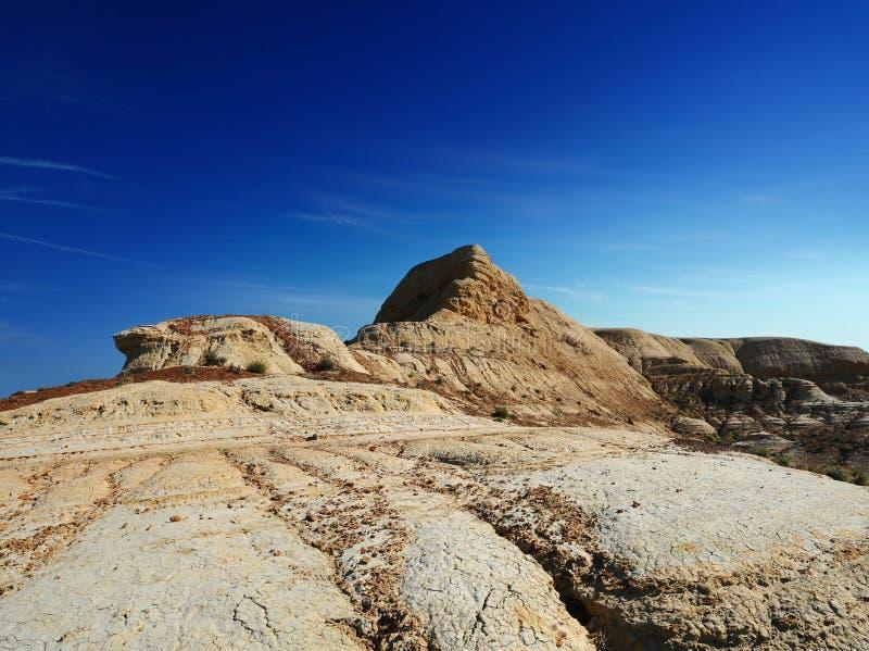 Cuestas Shalkar Nura de la meseta del desierto imagen de archivo libre de regalías