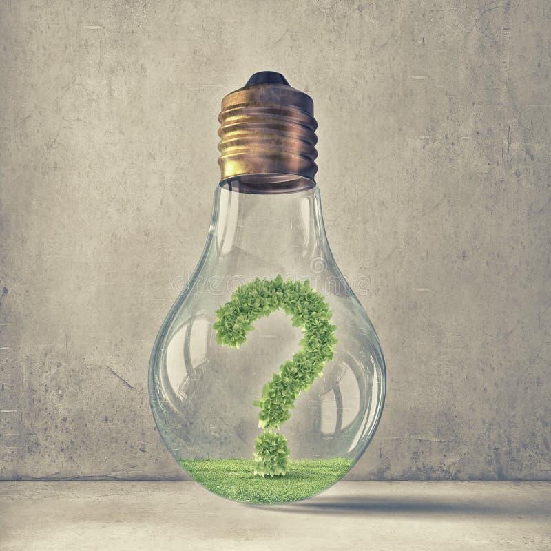 Cuestión de la ecología y del ahorro de la energía fotos de archivo