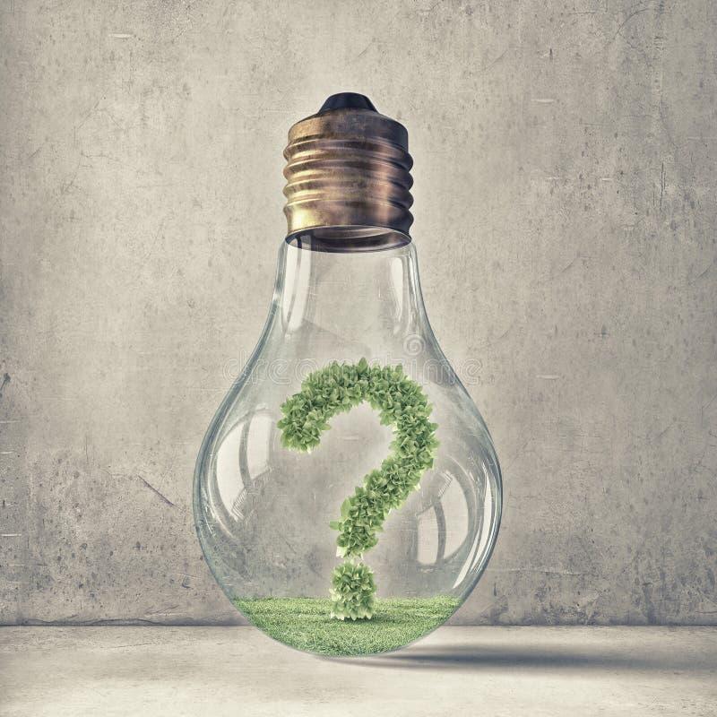 Cuestión de la ecología y del ahorro de la energía imagenes de archivo