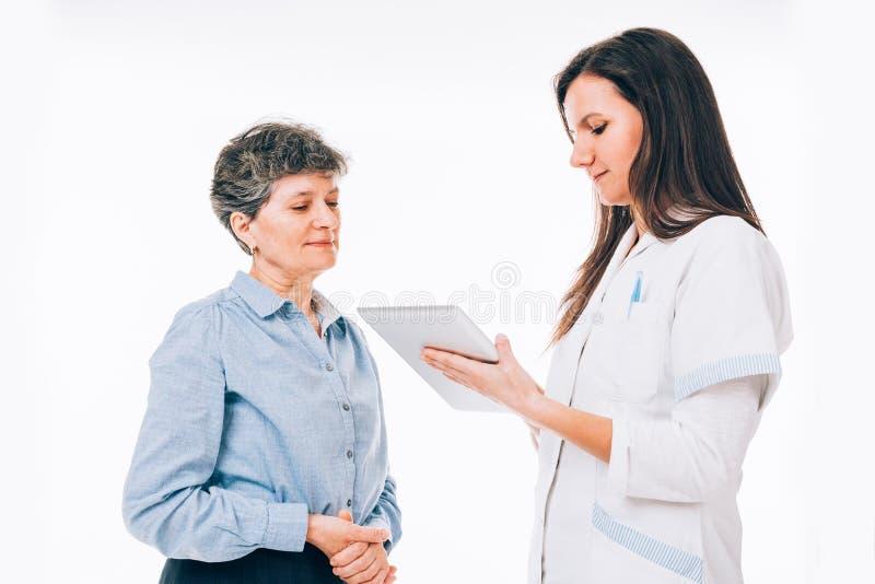 Cuestionario médico foto de archivo