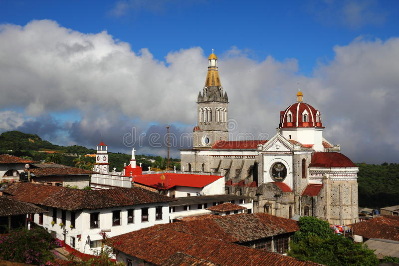Cuetzalan antena Ja fotografia royalty free
