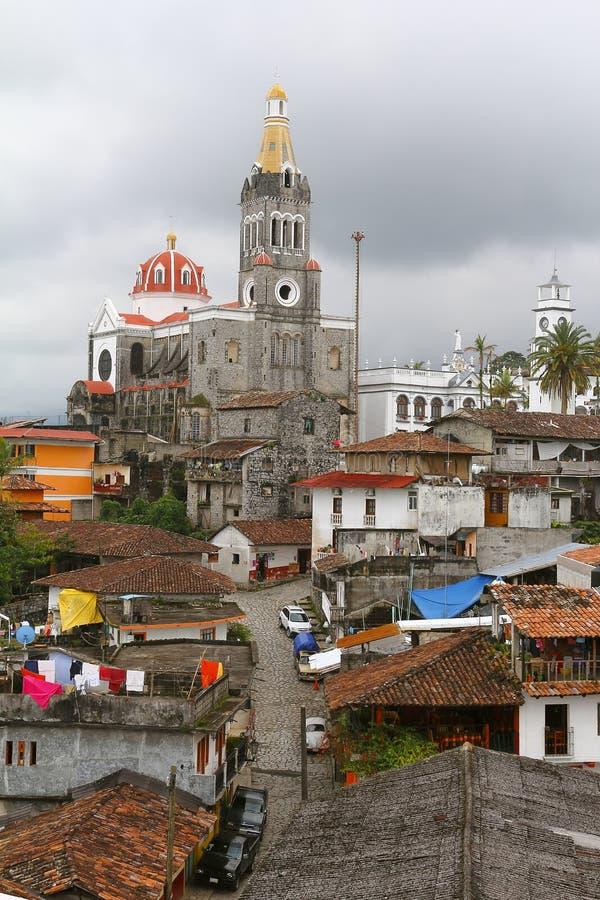 Cuetzalan town II. Magic town of cuetzalan, mexican state of puebla stock photography