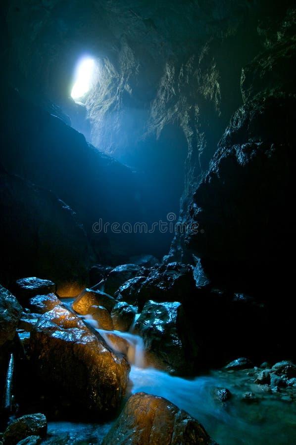 Cueva de Cetatile Ponorului foto de archivo