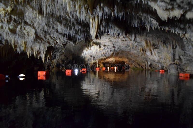 Cueva de Diros, Grecia fotografía de archivo