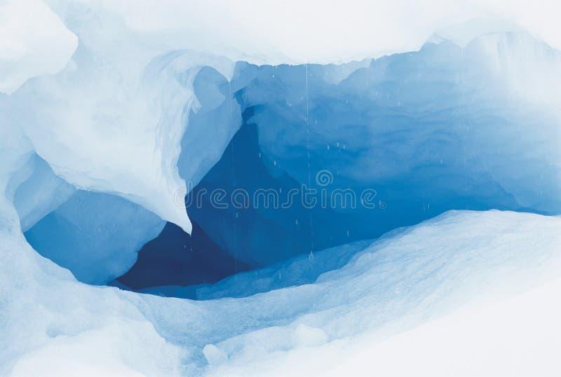 Cueva de hielo fotografía de archivo