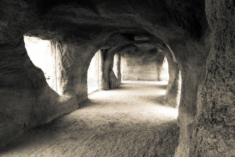 Cueva de la arena foto de archivo libre de regalías