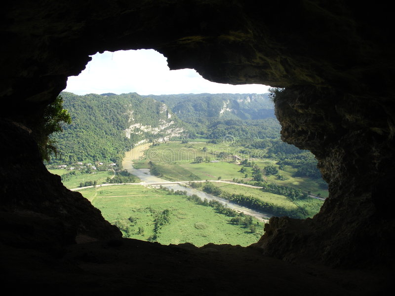 Cueva de la ventana, Cueva Ventana, el Caribe, Puerto Rico fotografía de archivo libre de regalías