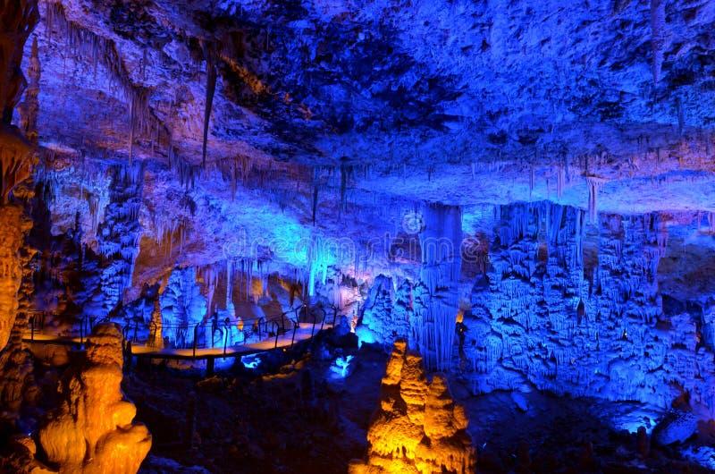 Cueva de las estalactitas de Avshalom - Israel fotografía de archivo libre de regalías