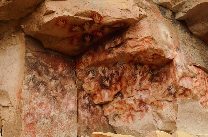 Cueva de las manos 库存图片