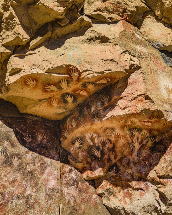 Cueva de las Manos, Patagonia, la Argentina imagen de archivo