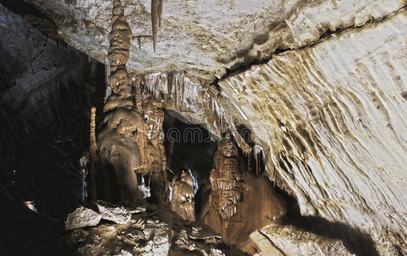 Cueva de mármol, Crimea, Simferopol ucrania foto de archivo