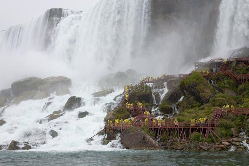 Cueva de Niagara Falls de vientos imágenes de archivo libres de regalías